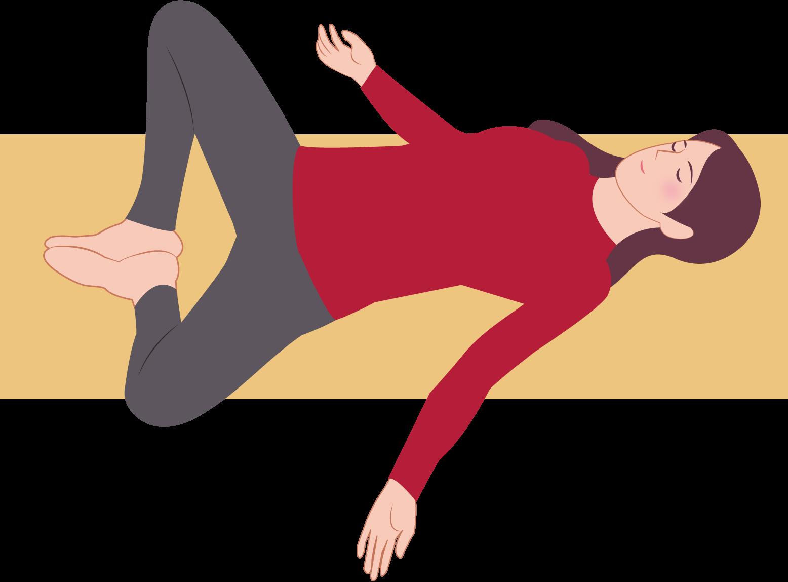 股関節ストレッチ (2)
