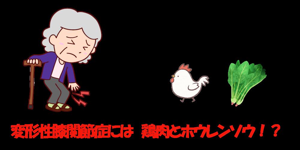 変形性膝関節症鶏肉
